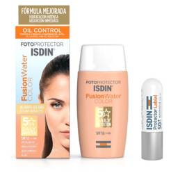 ISDIN - Pack Fotoproteccion Facial Fusion Water Color + Protector Labial Spf50+