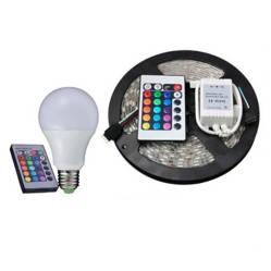 ACTUAL - Ampolleta Led  Multicolor  Tiras Led Multicolor