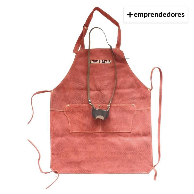 Karibu - Pack Pechera De Cuero Rojo Más Porta Copa