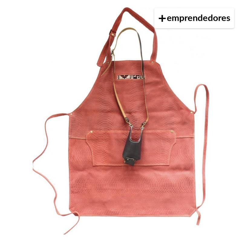 Karibu - Pack Pechera De Cuero Rojo Más Porta Vaso