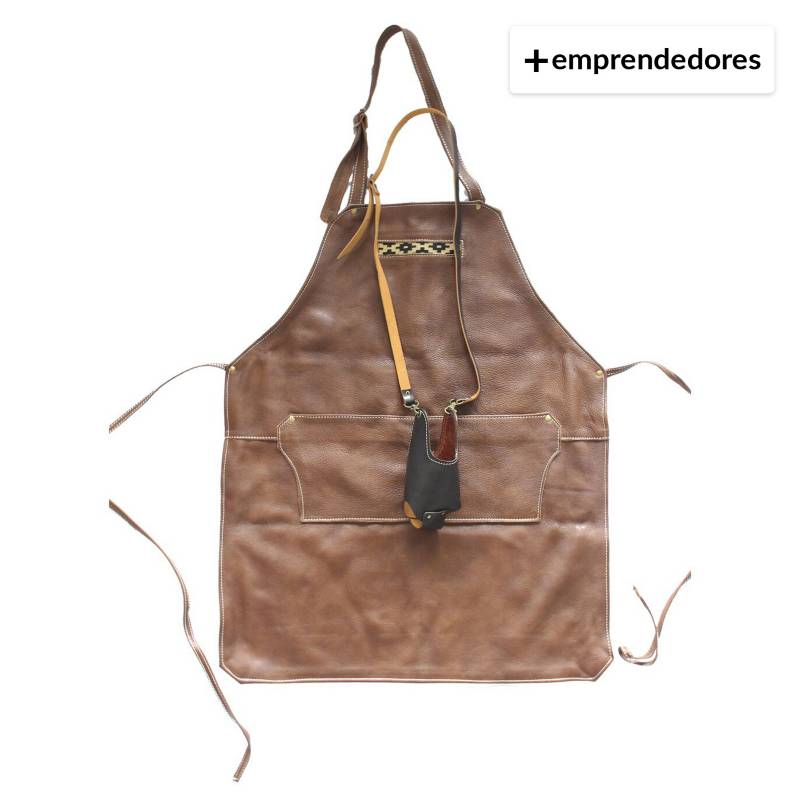 Karibu - Pack Pechera De Cuero Cafe Más Porta Vaso