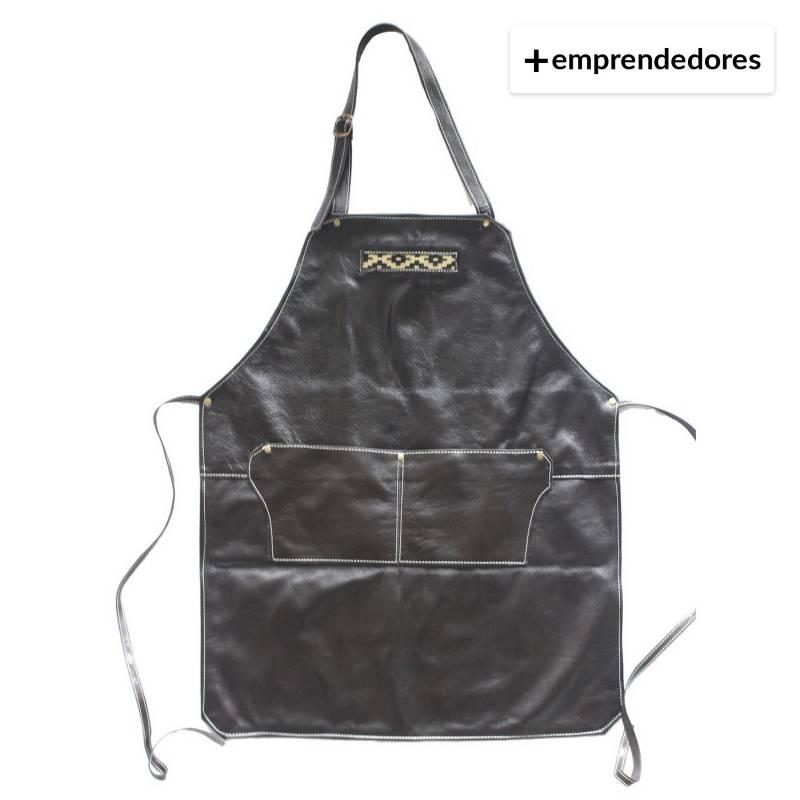 Karibu - Pechera De Cuero Cafe Oscuro