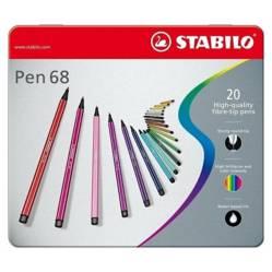 STABILO - Caja Metálica Stabilo Pen 68 (20 Colores)