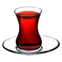 PASABAHCE - Set 6 Tazas Te Glass Con Su Platillo 165 Ml