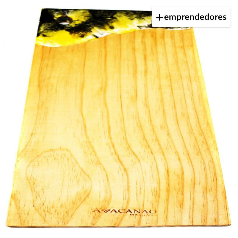 AVACANAO - Tabla de picoteo artesanal resina 45 cms