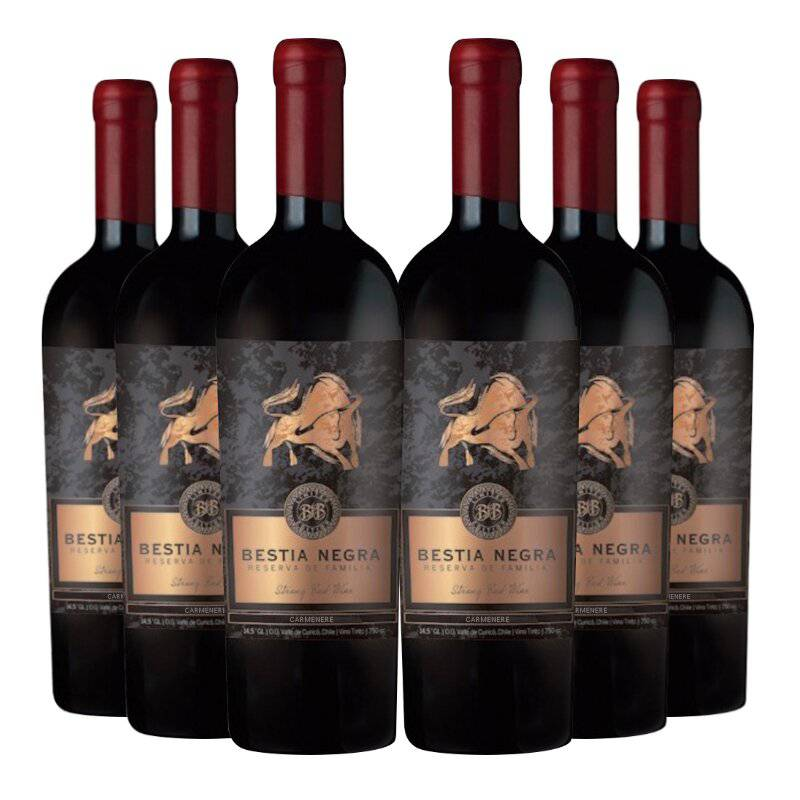 REQUINGUA - 6 Vinos Bestia Negra Gran Reserva Carmenere