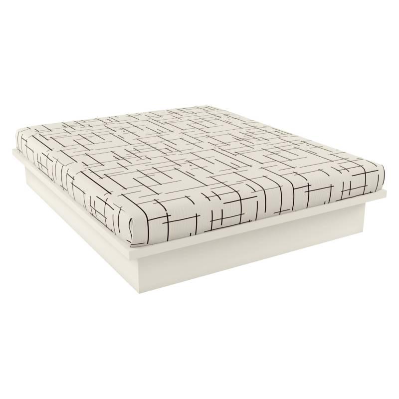 Decocasa - Base de cama Off White Decocasa