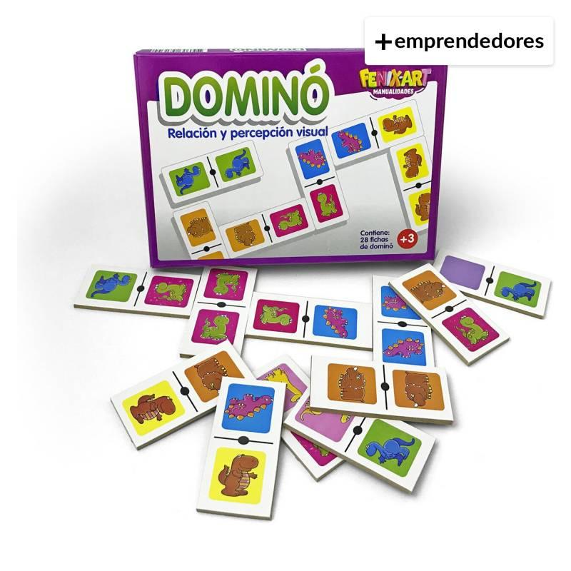 TARMONS - Domino Dinosaurios Madera