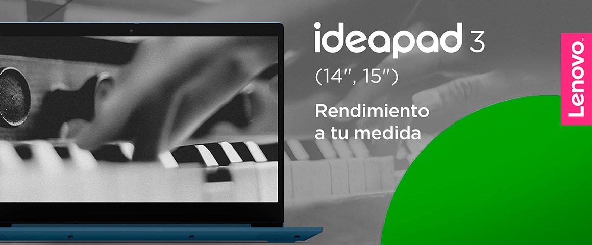 Header Ideapad 3 con logo lenovo