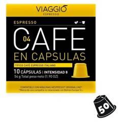 VIAGGIO ESPRESSO - Pack 50 Cápsulas Café Espresso
