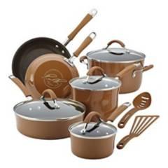RACHAEL RAY - Bateria de Cocina 12 Piezas Ocre