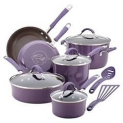 Rachael Ray - Bateria de Cocina 12 Piezas Lavanda