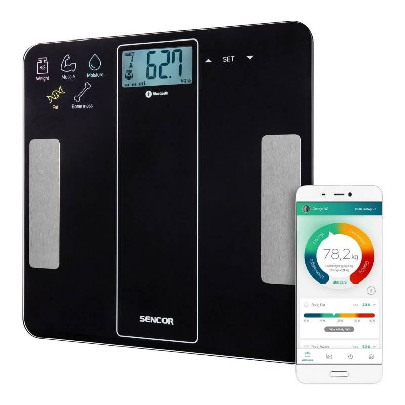 SENCOR - Balanza Pesa Digital Bluetooth