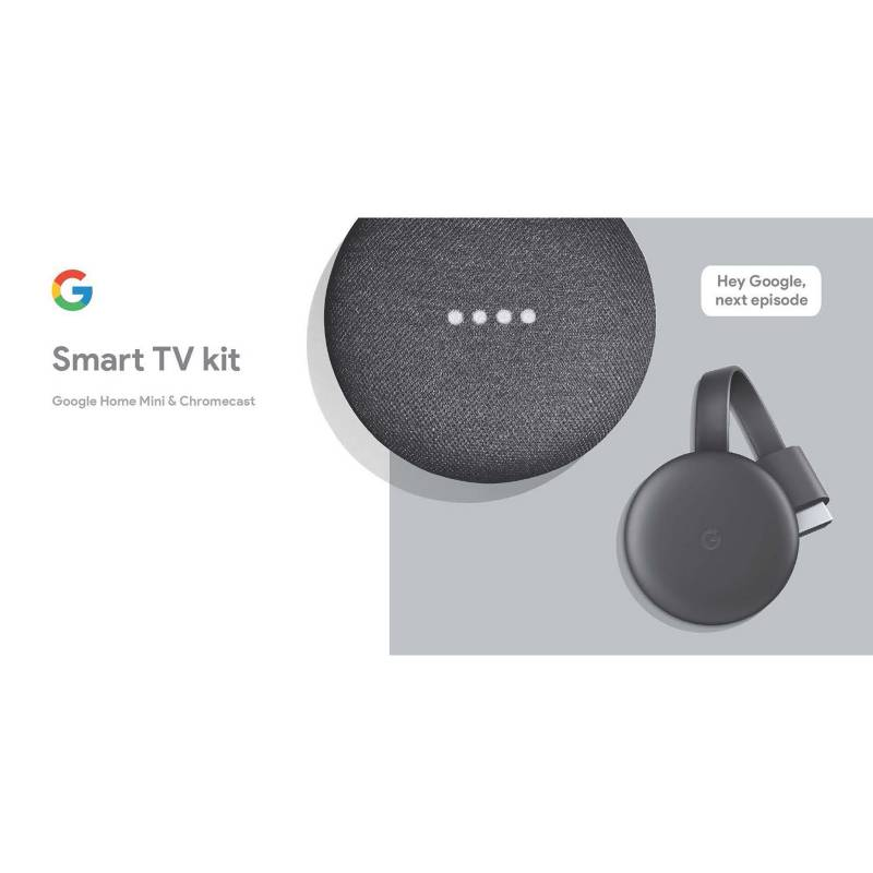 Google - Combo Chromecast 3 + Google Home Mini