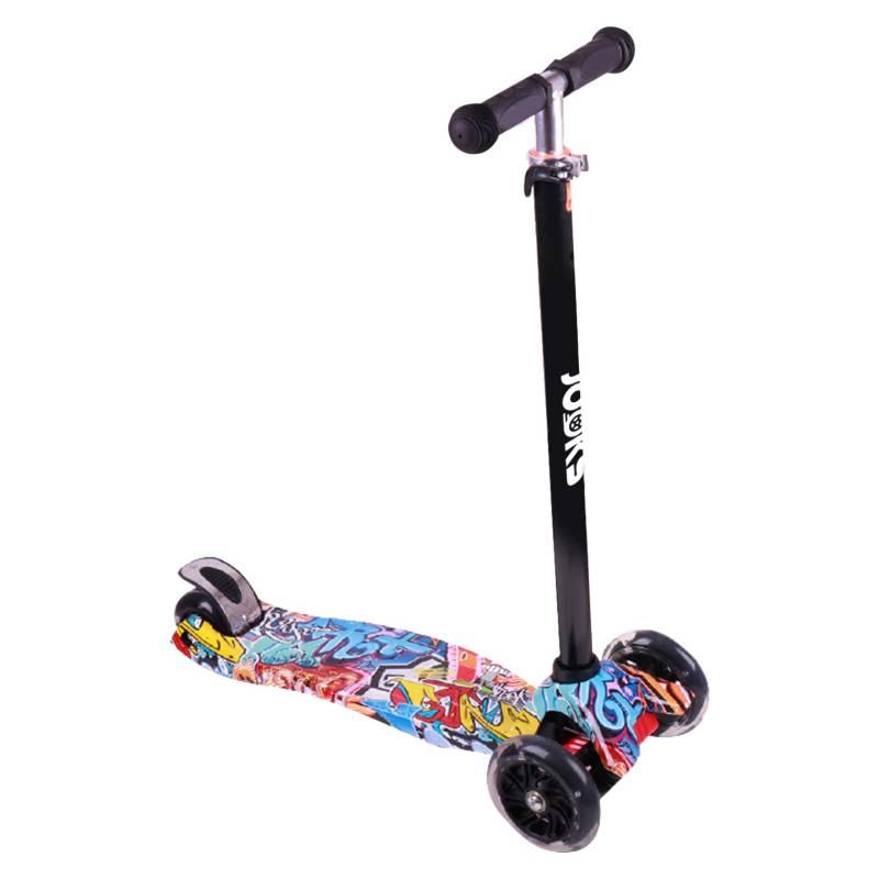 MAX MAGIC - Scooter Monopatín Ajustable Light Wheels - Rojo
