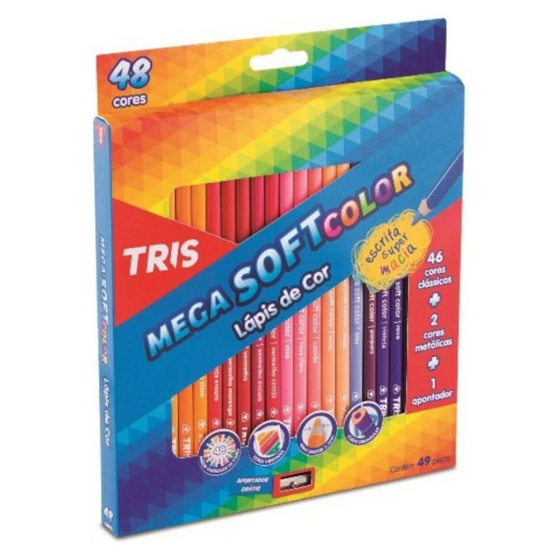 TRIS - Lápices de Color Mega Soft - 48 Colores