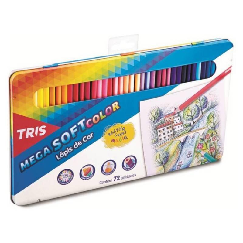 TRIS - Lápices de Color Mega Soft - 72 Colores