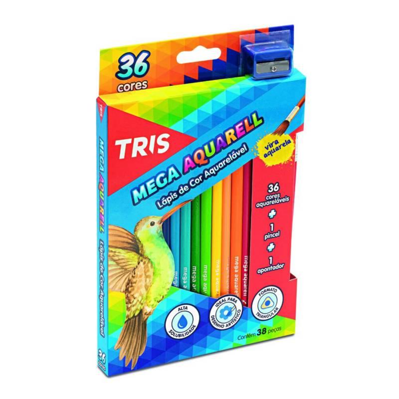 TRIS - Lápices De Color Mega Acuarelables 36 Colores