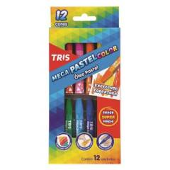 TRIS - Lápiz de Cera Mega Oleo Pastel 12 Colores