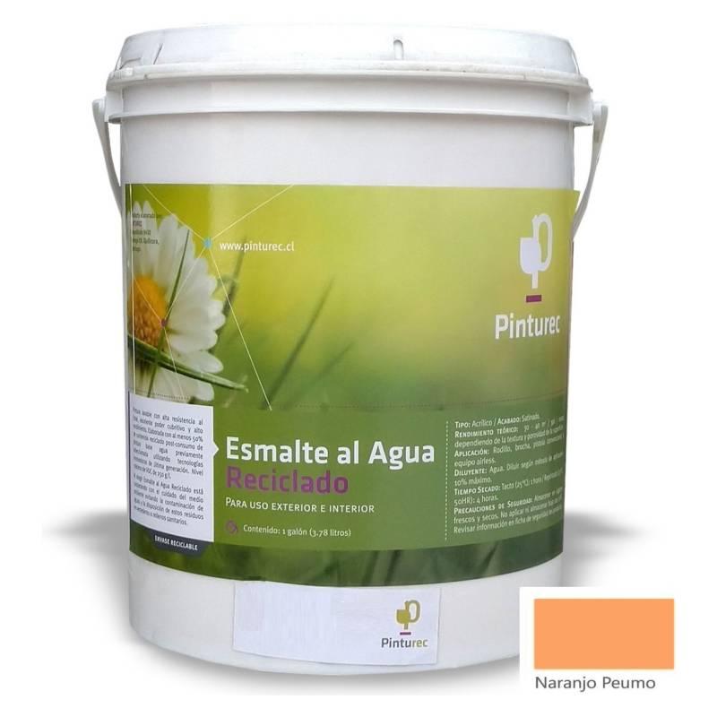 PINTUREC - Esmalte Al Agua Reciclado Pinturec Satinado Naranj