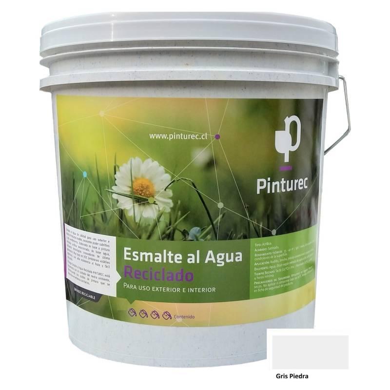 PINTUREC - Esmalte Al Agua Reciclado Pinturec Satinado Gris P