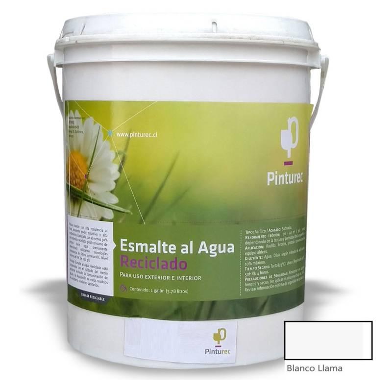 PINTUREC - Esmalte Al Agua Reciclado Pinturec Satinado Blanco