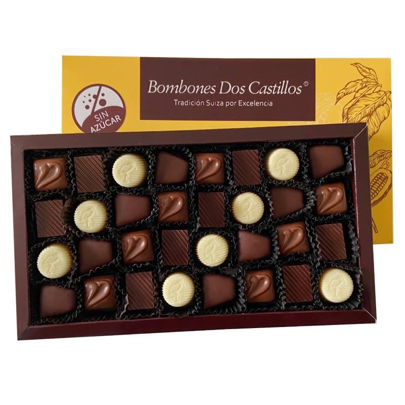 BOMBONES DOS CASTILLOS - Caja De Chocolates Surtidos Sin Azúcar N2