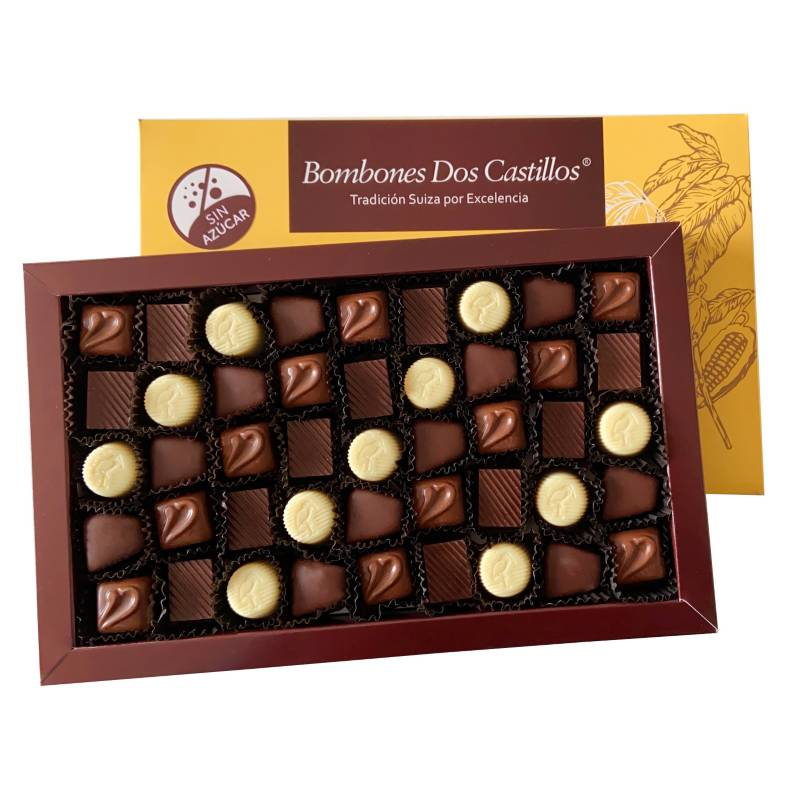 BOMBONES DOS CASTILLOS - Caja De Chocolates Surtidos Sin Azúcar N3