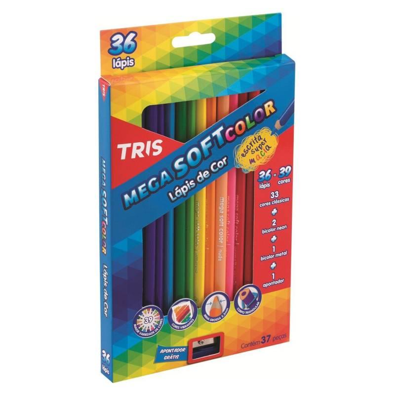 TRIS - Lápices de Color Mega Soft 36 Colores