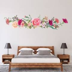 AVERY - Pink Flowers Floral Carnations Ws-46318