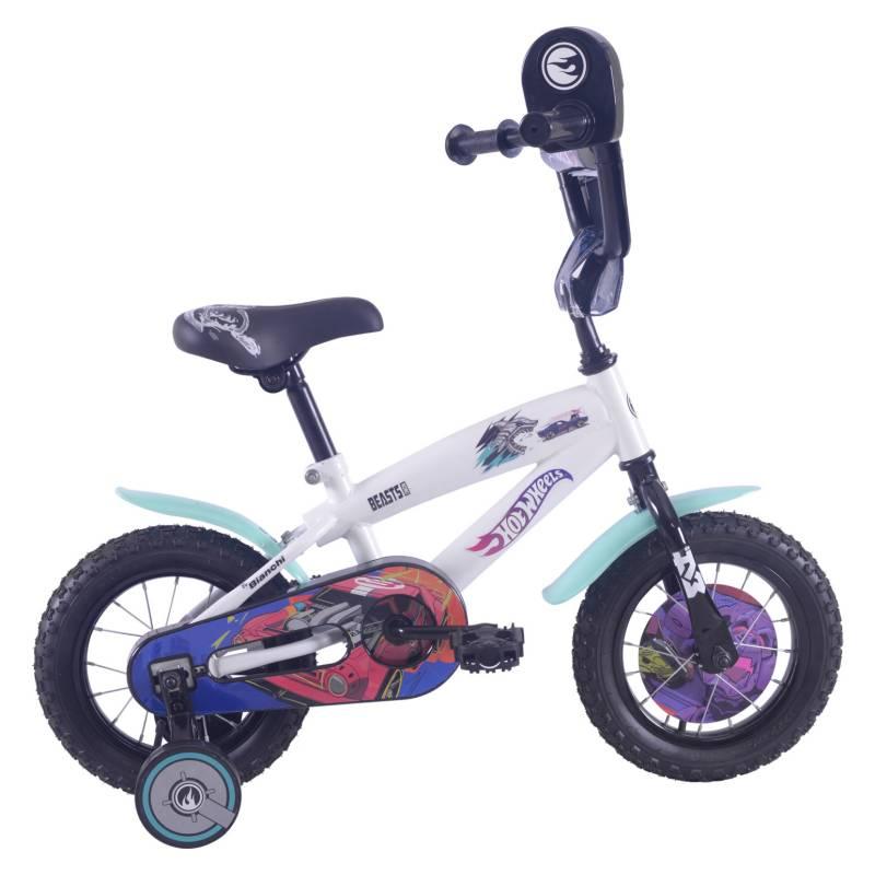 BIANCHI - Bicicleta Infantil Hotwheels 12 Blanco