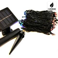 AMULEN - Guirnalda Solar 200 Led Multicolor 8 Secuencias