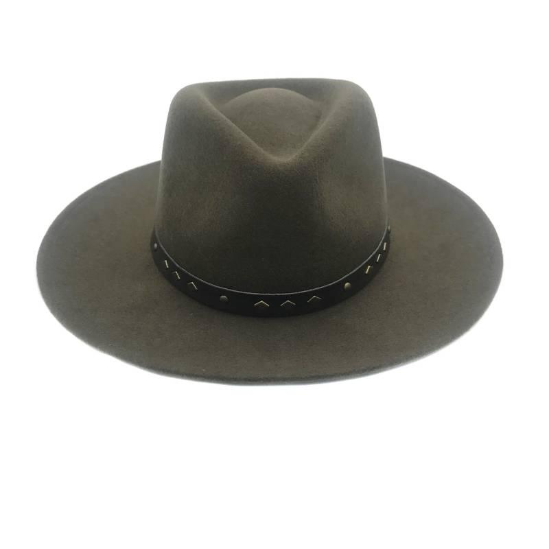 CANADIAN - Sombrero Australiano Habano Ala Ancha 100% Fieltro
