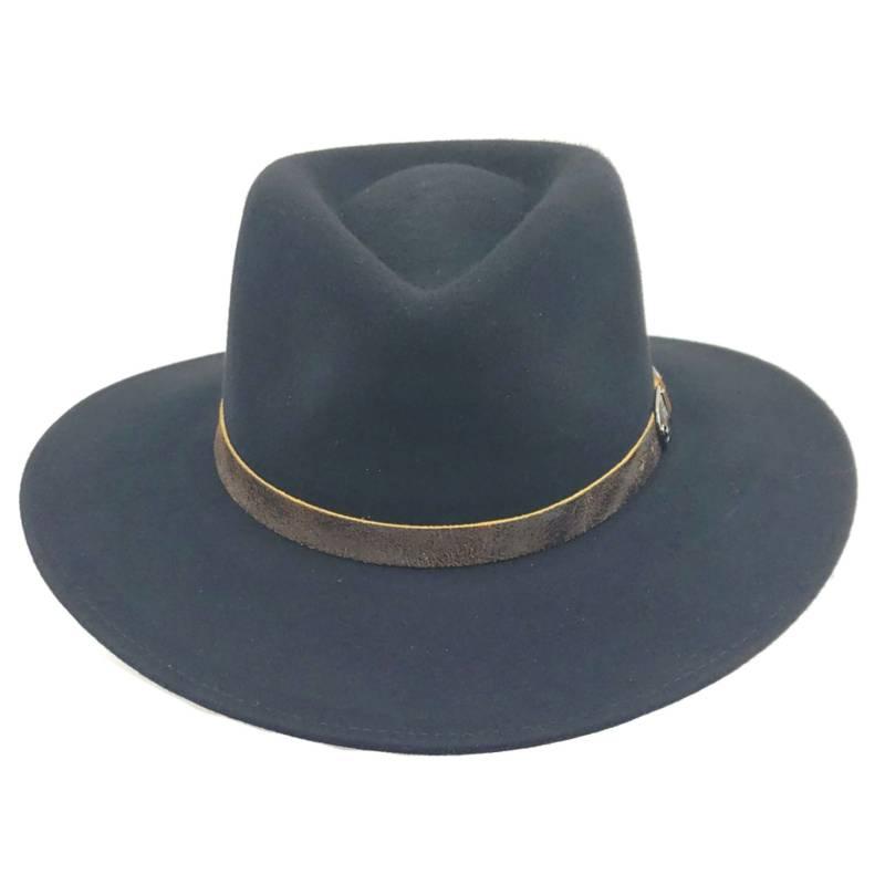 CANADIAN - Sombrero Australiano Negro Ala Ancha 100% Fieltro