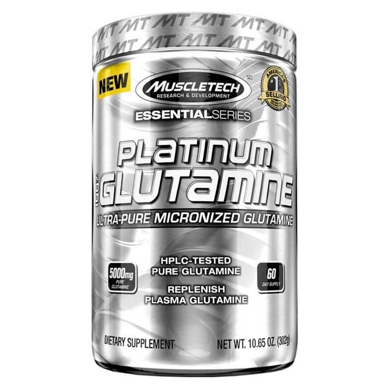 MUSCLETECH - Platinum 100% Glutamine (300 Gr)