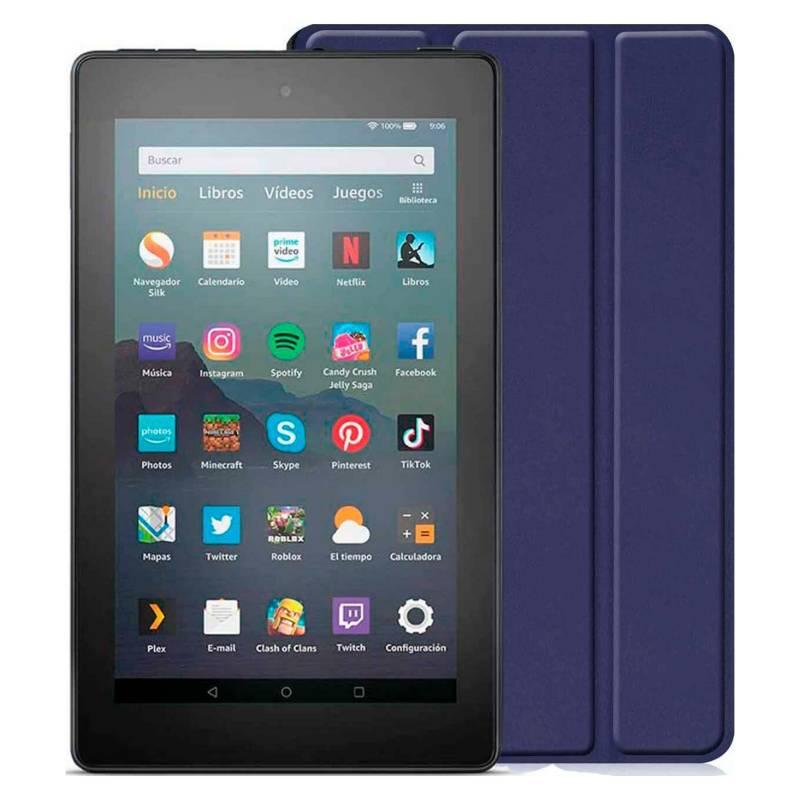 Amazon - Kindle Fire 7 2019 16 GB  Funda Azul