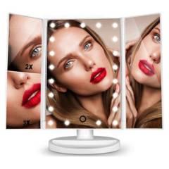 GENERICO - Espejo Para Maquillaje Con Luces Led Tactil Doble