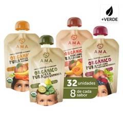 AMA - Mix Puré de Vegetales Orgánico 32X90Grs