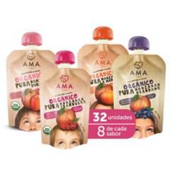AMA - Mix Puré de frutas Orgánico 32x90Grs