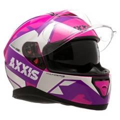 Axxis - Casco 3 Sv Torn Blanco/Rosa/Purpura