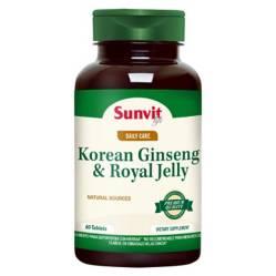 SUNVIT LIFE - Kor Ginseng  Roy Jelly - 60 Caps Svl