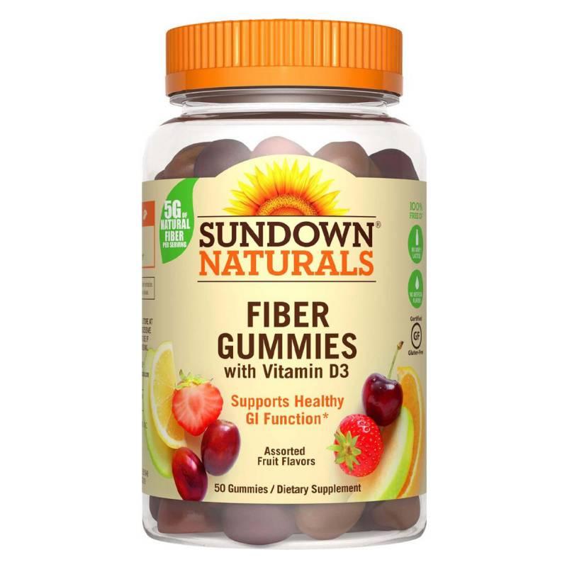 SUNDOWN NATURALS - Fiber With D3 - 50 Gummies Sd