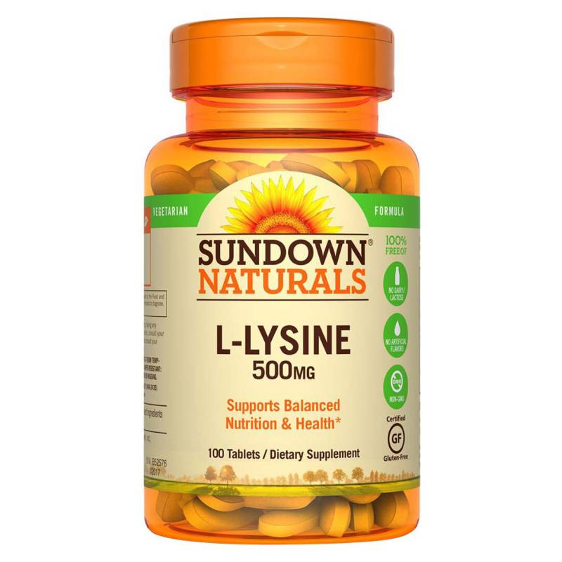 SUNDOWN NATURALS - L-Lysine 500 Mg - 100 Tab Sd