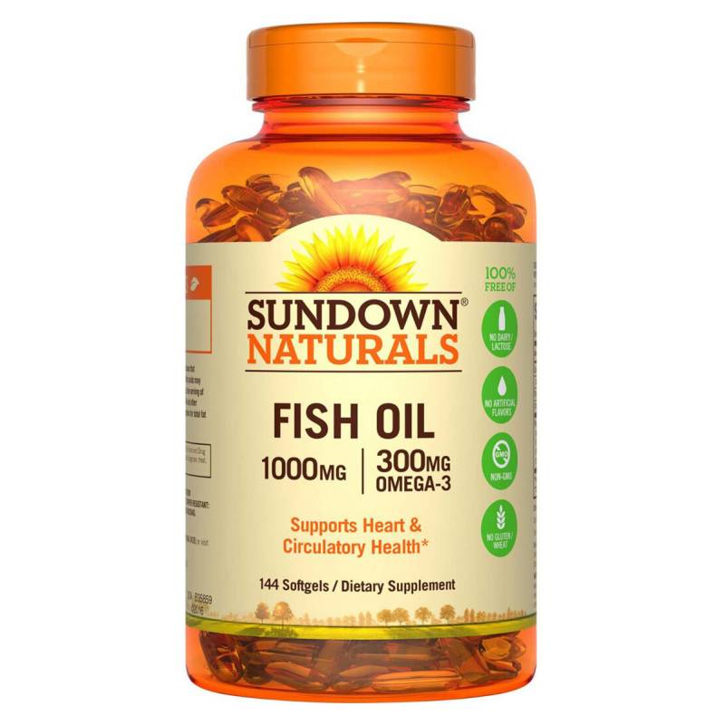 SUNDOWN NATURALS - Fish Oil 1000 Mg - 144 Soft Sd