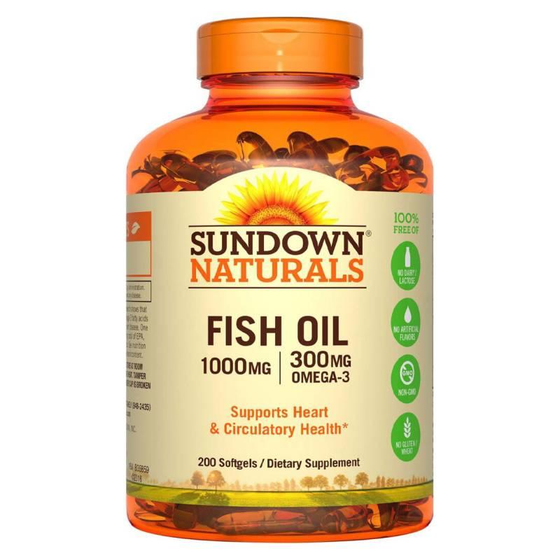 SUNDOWN NATURALS - Fish Oil 1000 Mg - 200 Soft Sd