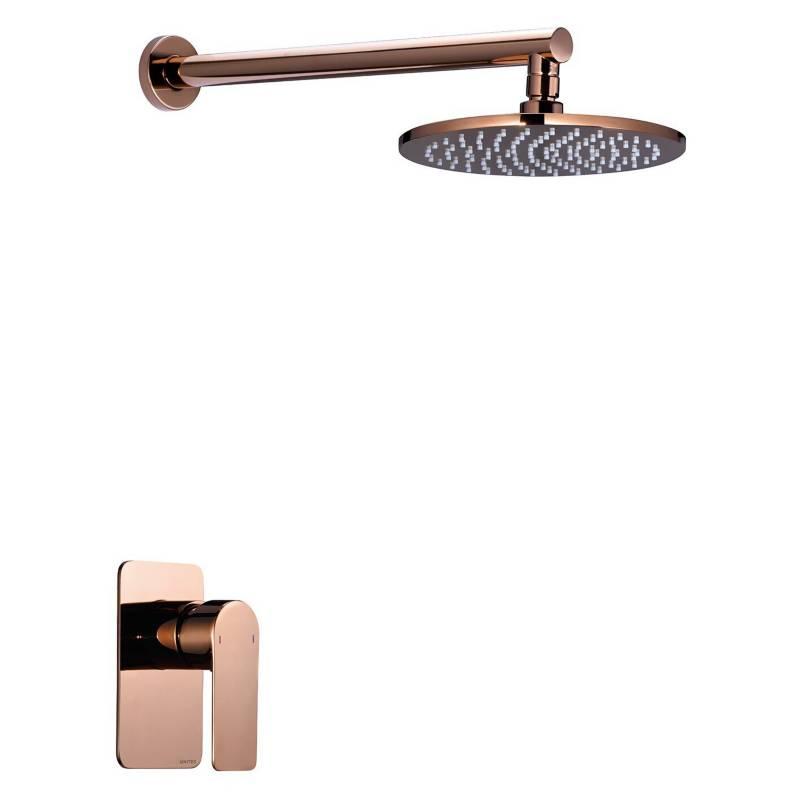 UNITEX - Monomando ducha al muro Rose Gold