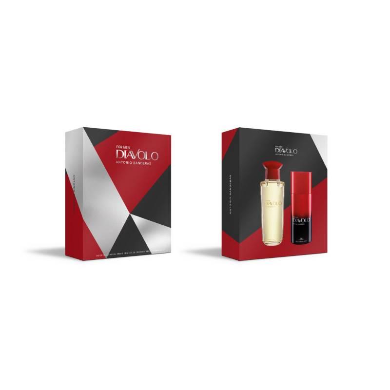 ANTONIO BANDERAS - Set Perfume Hombre Diavolo Edt 100Ml + Desodorante 150Ml