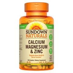 SUNDOWN NATURALS - Cal/Mag/Zinc - 100 Cap Esp Sd