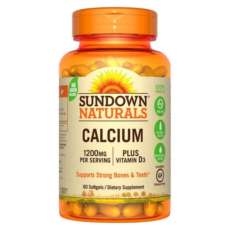 SUNDOWN NATURALS - Calcium 1200 Plus D - 60 Soft Sd