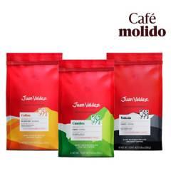 Juan Valdez - Pack 3x Café Grano Molido Vaiedades 250 g